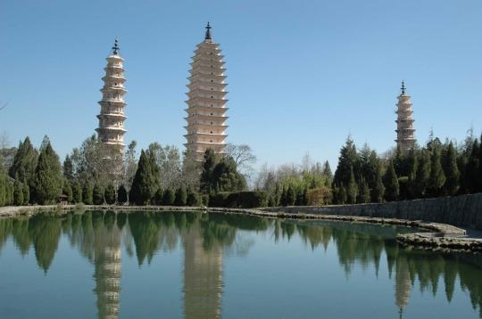 Temple des Trois pagodes chine