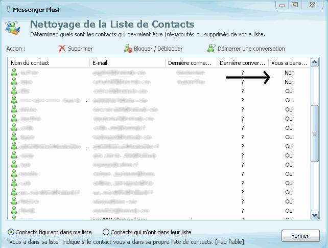 savoir si un contact sur msn, nous a bloquer